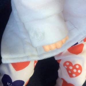 ファーストドレス ベロアパーカー 刺繍