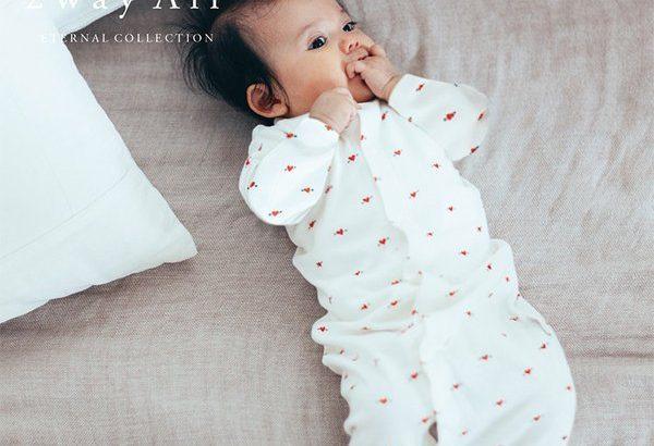 1.2月生まれの赤ちゃんママに購入していただいた新生児サイズのロンパース。
